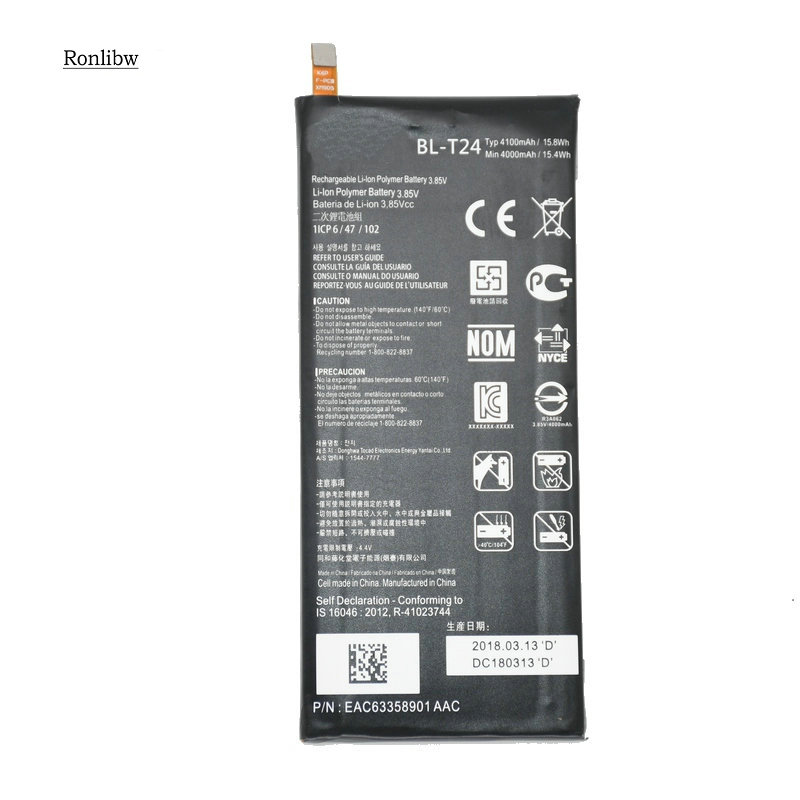 Ronlibw 4100mAh BL-T24 Replacement Battery For LG K220 X Power K220ds K220dsk K220dsz K220y K220z Ls755 Mobile Phone