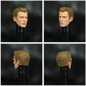 """Image 5 - Avenger endgame capitão américa 6 """"figura de ação ko legends s ml lendas personalizado steven rogers mjolnir digno capitão cabeça boneca brinquedos"""