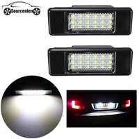 2X trasera de coche 18 LED SMD número de licencia placa de la lámpara de la luz de 6000K para Peugeot 106, 207, 307, 308, 406, 407 508 para CITROEN C3 C4 C5 C6 C8