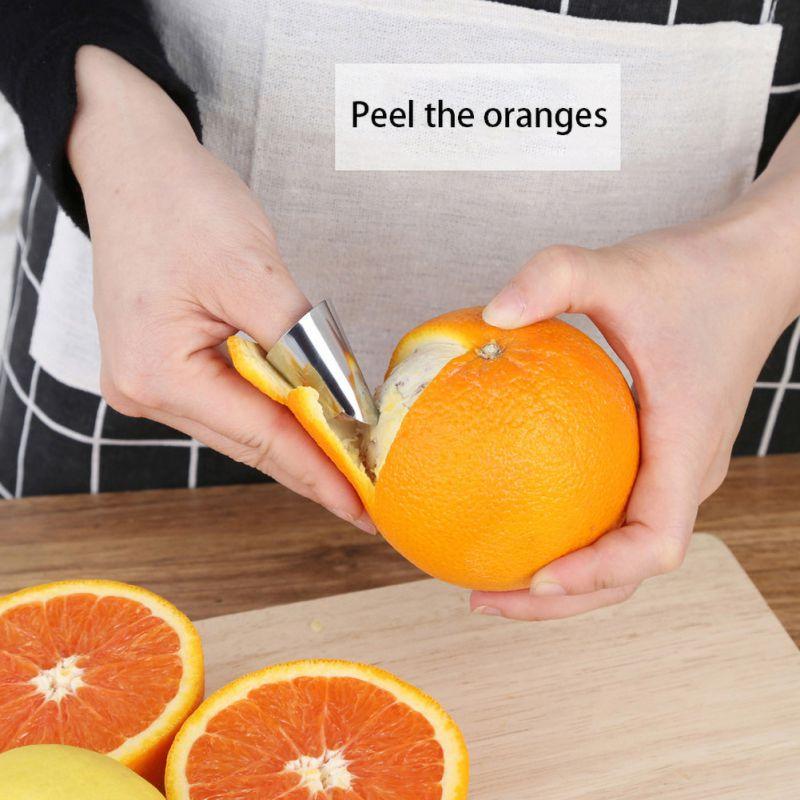 Litchen Peeling noix fruits peau haricot peau artefact fer produit protection ongle couverture cuisine Gadget