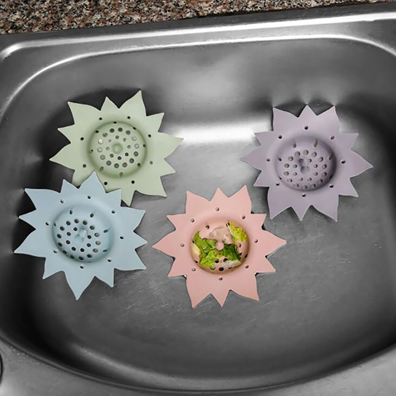 Kitchen Sink Draining Silicone Hair Catcher Bathroom Cap Shower Columns Cover Basin Sink Filters Kitchen Drain Floor