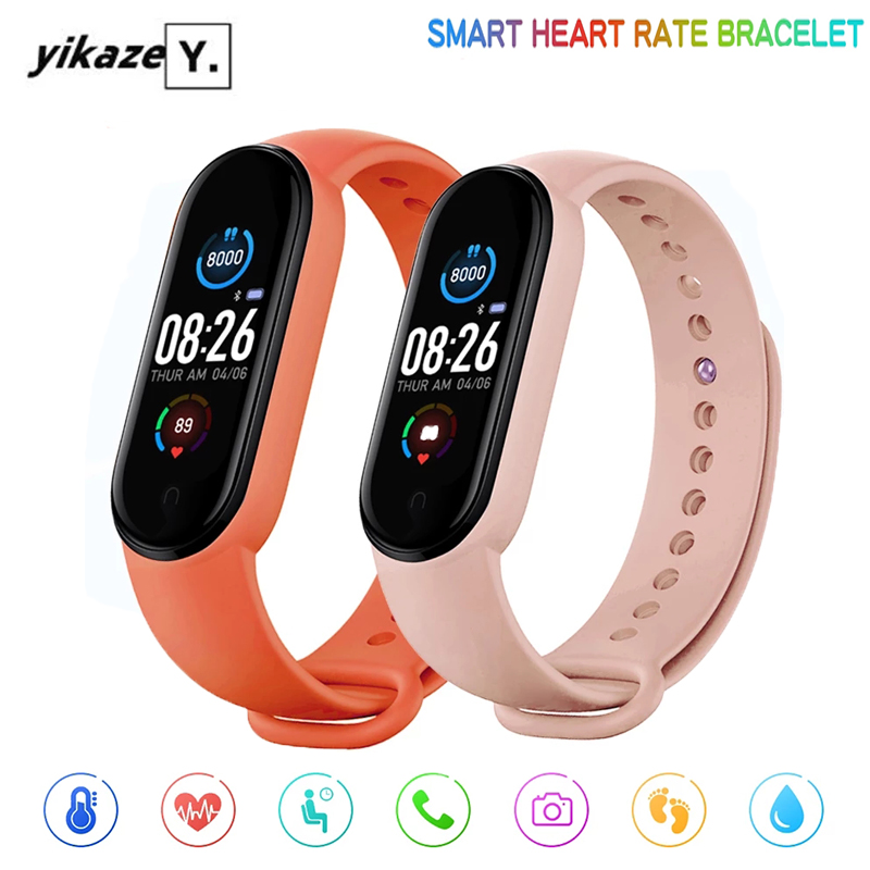 M5 Smart Band Men Women Heart Rate Blood Pressure Monitor Smartwatch Fitness Tracker Waterproof Bluetooth Watch for Android IOS