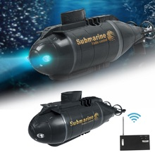 Rc-Submarine Boat Diving-Toy Led-Light Mini Electric with 5-Colors Simulation for Children