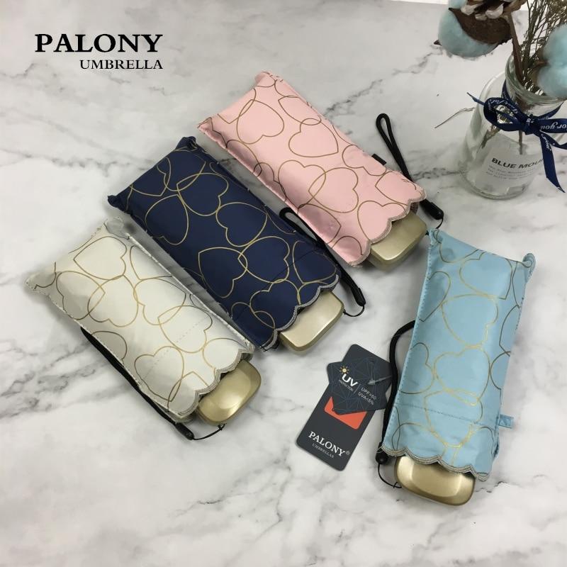 Карманный мини-зонт PALONY, компактный складной зонтик с надписью love, стильный зонтик от солнца и дождя, женские зонтики