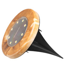4pcs / 8 LED Solar Light Outdoor Waterproof Imitation Marble Lawn Buried Light Bright Villa Garden Road Decoration Solar Light