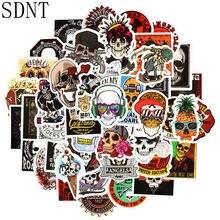 50 sztuk szkielet fajna naklejka Graffiti Punk duch czaszka Rock naklejki na pc wodoodporne kalkomanie do DIY deskorolka gitara samochód