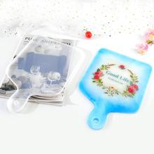 DIY Crystal Epoxy Silicone Mold Square Round Tray Resin Mold Table Decorative Compote Coaster Japanese Dinner Plate