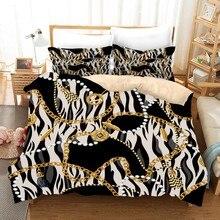 Juego de ropa de cama estilo barroco 2/3 piezas decoración del hogar edredón funda de cama de lujo Juegos De Almohada tamaño doble reina Rey, juego de cama