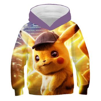 Pikachu 3D kostium Anime Pokemon bluza z kapturem Baby Boy ubrania dziewczyna bluza z kapturem słodkie Pokémon ubrania dla nastolatków ubrania dla dzieci chłopiec bluzy tanie i dobre opinie 4-6y 7-12y 12 + y CN (pochodzenie) Wiosna i jesień Damsko-męskie moda POLIESTER Dobrze pasuje do rozmiaru wybierz swój normalny rozmiar