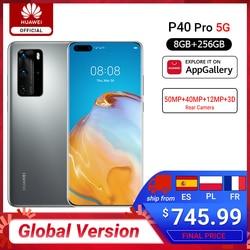 DHL bezpłatny statek globalna wersja Huawei P40 Pro 8G 256G Kirin 990 5G Octa rdzeń Smartphone potrójny aparat 6.58 ''SuperCharge 40W