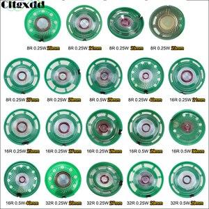 Cltgxdd 1 pçs ultra-fino alto-falante campainha chifre brinquedo-chifre de carro 8/16/32 ohms 0.5w 0.25w 8r 16r 32r alto-falante 20 21 23 27 29 mm de diâmetro