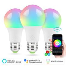 4.5 W WiFi inteligentna żarówka LED B22 E27 LED lampa RGB praca z Alexa/Google Home biała ściemniająca funkcja timera żarówka Dropship