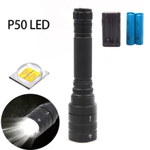 Lantern Torch Super-Powerful Led Flashlight Tactical-Xhp50 Zoomable 18650 with Most