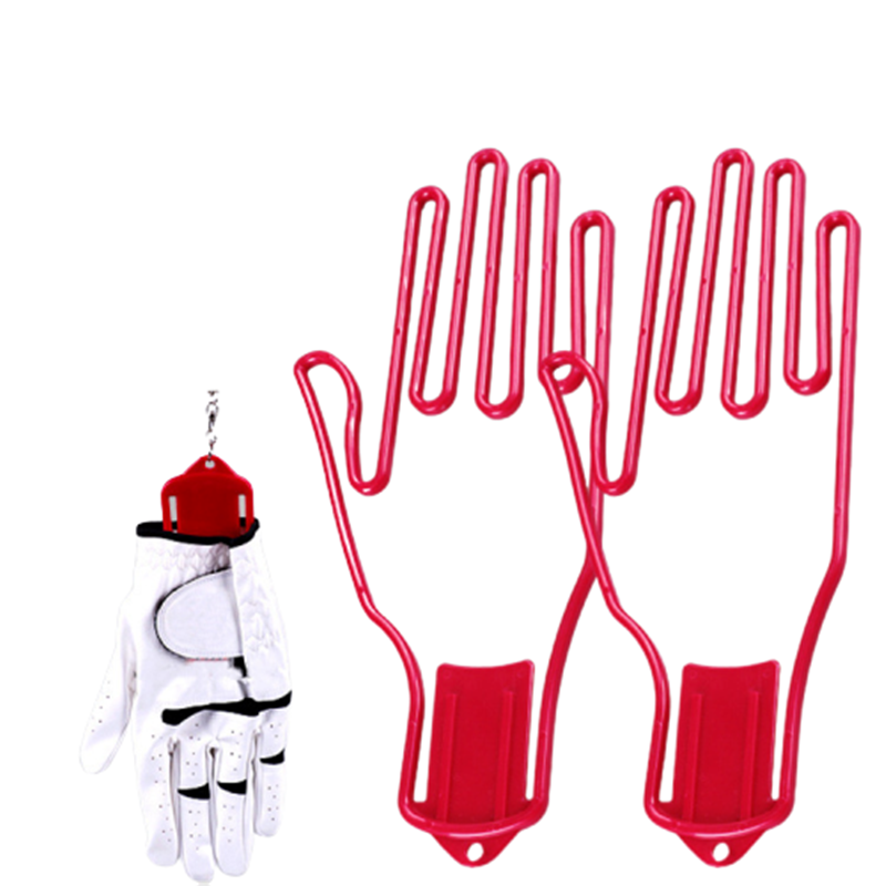 2 Pc Golf Glove Stretcher With Key Chain Plastic Glove Rack Dryer Golf Glove Hanger Holder Golf Accessory