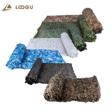 LOOGU Single Layer Camouflage Nets Camo Netting Army Military Outdoor Hunting Party Decor Hiding Mesh White Woodland Black