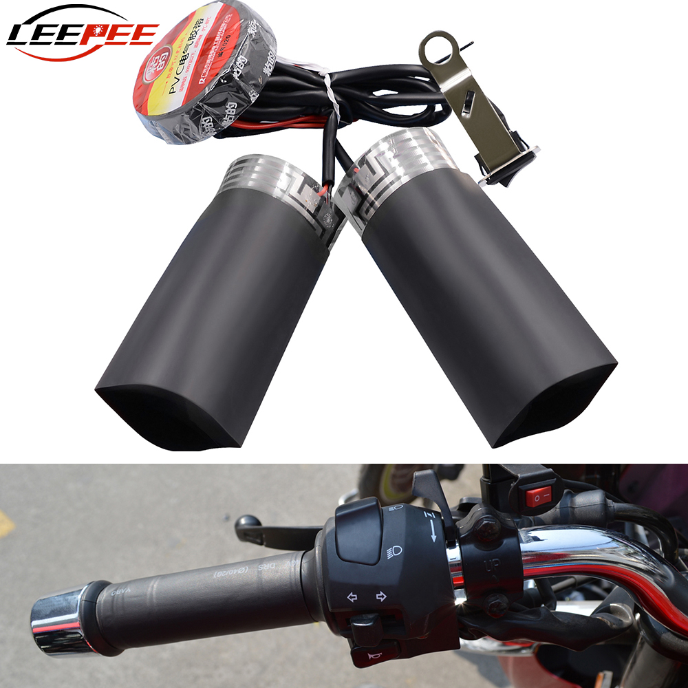 Motorcycle Heated Handlebar Handgrips Pads Cuffs Resistant Tape Covers Electric Heating Set Kit Bike Motor Accessories