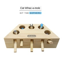 New hot Gopher machine Funny cat toy Solid wood Pet cat toys pet cartoon educational toys Cat cat toy game  interactive cat toys shark bite game funny toys desktop fishing toys kids family interactive toys board game