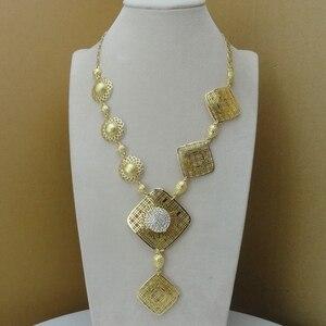 Image 2 - Yuminglai 2019 di Modo Dubai Insieme Dei Monili di Lusso Tre Colori Placcato Oro Della Signora Jewelry Set FHK8533