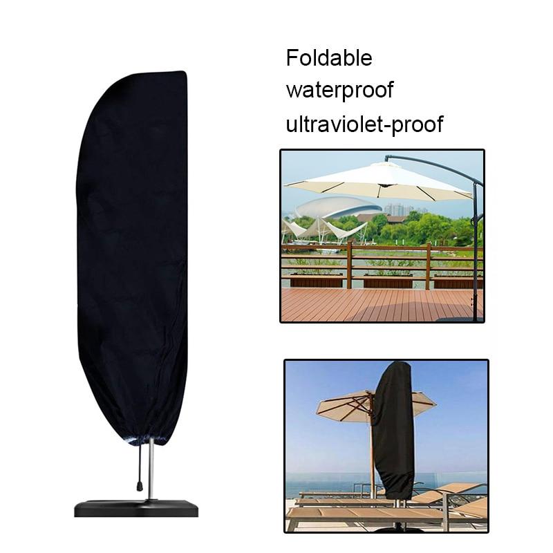 S/M/L чехол для зонта внутреннего дворика, водонепроницаемый чехол для зонта на молнии, защита от пыли, ветра и дождя, для консольных зонтов