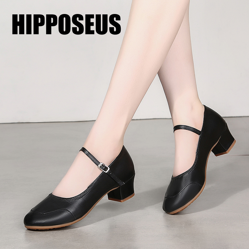 Dance Shoes for Woman Girls Ladies Latin Ballroom Modern Salsa Practise Dancing Shoes Closed Toe Square Dance Soft Rubber Sole