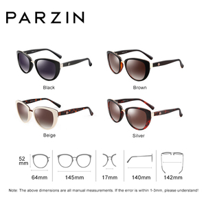 Image 4 - Parzinファッションエレガントな女性のサングラススタイルの高品質ブランドデザイナーUV400サングラス女性偏光ホット販売