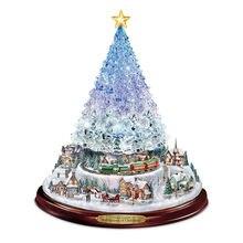 Хрустальная елка рождественские наклейки украшения вращающаяся
