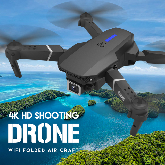 LSRC E525 RC drone with wide-angle HD 4K 1080P dual camera height keeping Wifi RC foldable quadrotor drone gift toy 3