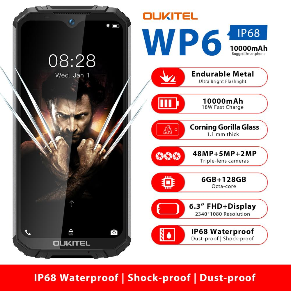 OUKITEL WP6 Mobile-Phone 128GB 6GB LTE/GSM/WCDMA Adaptive Fast Charge Octa Core Face Recognition/fingerprint Recognition