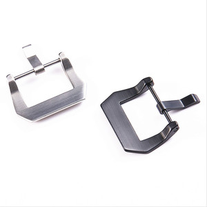 Image 2 - Wholesale 30Pcs/Lot Watch Buckle Stainless Steel Watch Buckle Screw Silver Black Color Shiny Matte Style 20MM 22MM 24MM 26MM