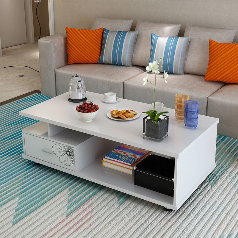 Minimalist Modern Baking Varnish Teapoy Table Living Room-Style TV Cabinet Teapoy Table Combination Simplicity Creative Living R