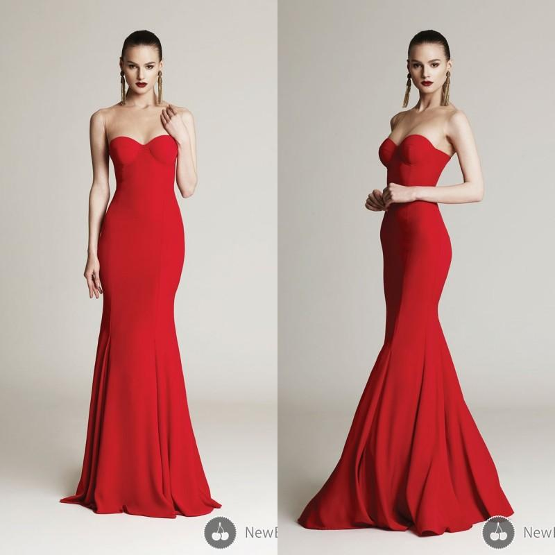 2018 Cheap Red Plus Size Sweetheart Mermaid Sweep Train Robe De Soiree Long Formal Elegant Satin Long Prom Bridesmaid Dresses