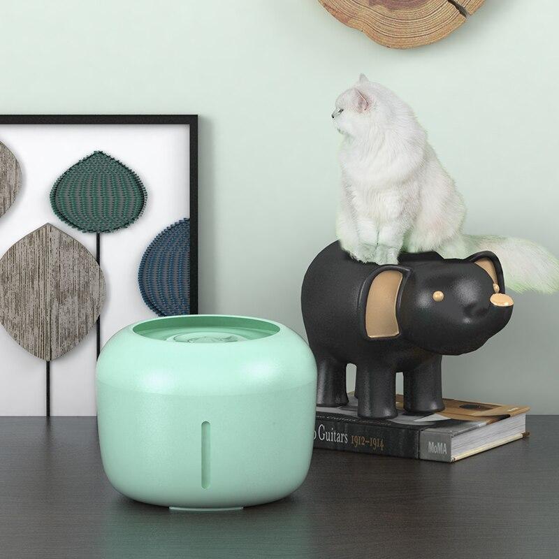 Fonte do gato beber fonte 2.5l automática bebedor tigela de água pet cão gatos dispensador usb elétrico com 1 caixa de filtro 5