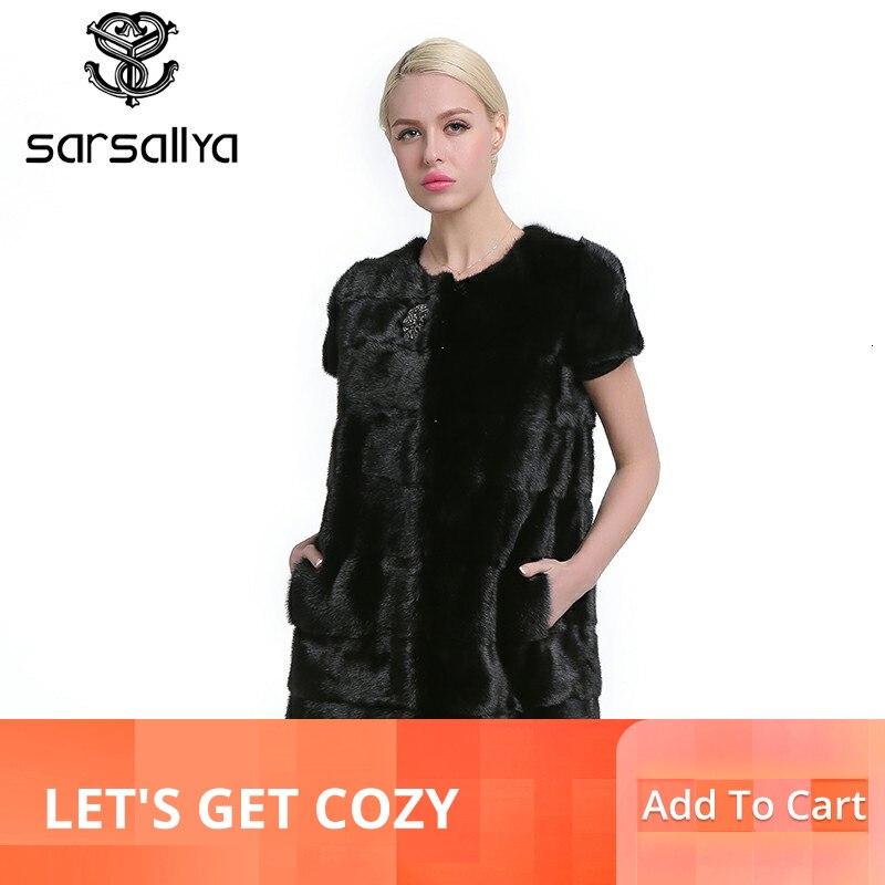 Sarsallya 100% 리얼 밍크 모피 조끼 롱 여성 겨울 모피 조끼 고품질 밍크 모피 코트 겨울 리얼 모피 조끼-에서리얼 퍼부터 여성 의류 의  그룹 1