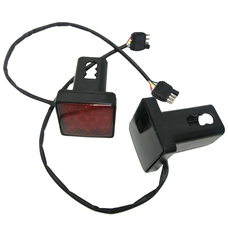 2 Inch Trailer Truck Hitch Towing Receiver Cover Smoked Lens 15 LED Brake Light