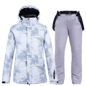 Image 2 - 10k Waterproof Skiing Suits Fashion Winter Set For Men Women Snowboard Clothes Suits Thicken Warm Ski Jacket Pants Plus Size 3XL