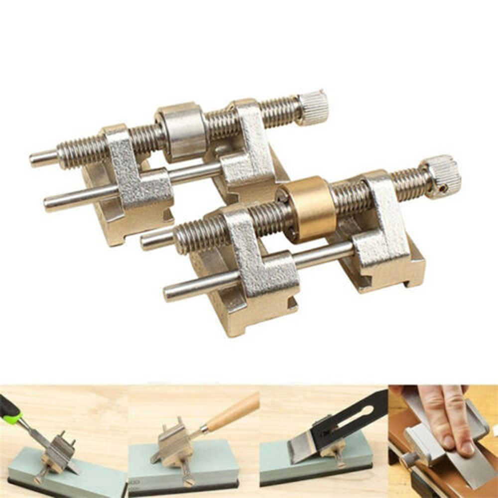 Stainless Steel Side Clamping Fixed Angle Honing Guide For Wood Chisel Planer Blade Flat Chisel Edge Sharpening