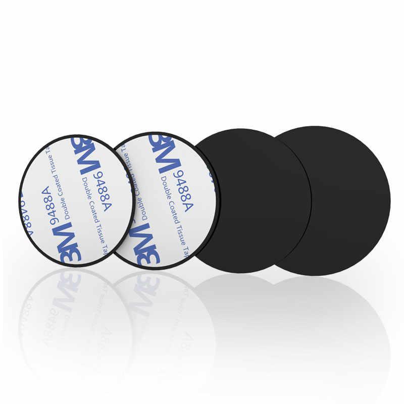 Magnetic Metal Plate Mount Ponsel Magnet Berdiri dengan Perekat untuk Ponsel Holder Universal Besi Disk 3M stiker