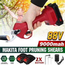 500W 88V Cordless Pruner 9000mAh Lithium-ion Battery Electric Scissors Pruning Shear Fruit Tree Bonsai Pruning Branches Cutter