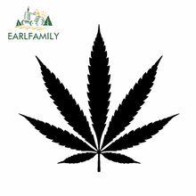 EARLFAMILY 13cm x 12cm for Weed Leaf Stock Silhouette Vinyl Decal Waterproof Surfboard Scratch-proof Windshield Car Stickers