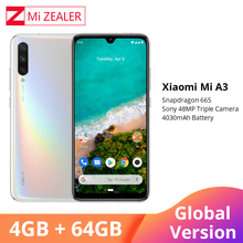 "Global Version Xiaomi A3 Mobile Phone Mi A3 4GB 64GB Smartphone 4030mAh 6.088"" AMOLED Screen Display 48MP 32MP AI Camera"