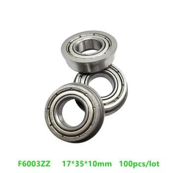 100pcs/lot Flanged bearing F6003ZZ 17*35*10mm  flange deep groove ball bearings F6003-ZZ Z 17x35x10 mm