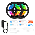 Wifi LED Strip Light RGB 5050 Remote Control Leds Light Smart Life Flexible Light Work With Tuya Alexa Google Home