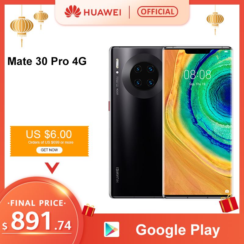 "Original HUAWEI Mate 30 Pro 8GB 128GB 256GB Smartphone 40MP Triple cámaras 32MP cámara frontal 6,53 ""Pantalla Kirin 990 Mate30 pro"