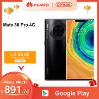 Originale Huawei Mate 30 Pro 8 Gb 128 Gb 256 Gb Smartphone 40MP Triple Telecamere 32MP Anteriore Della Macchina Fotografica 6.53 ''schermo Kirin 990 Mate30 Pro