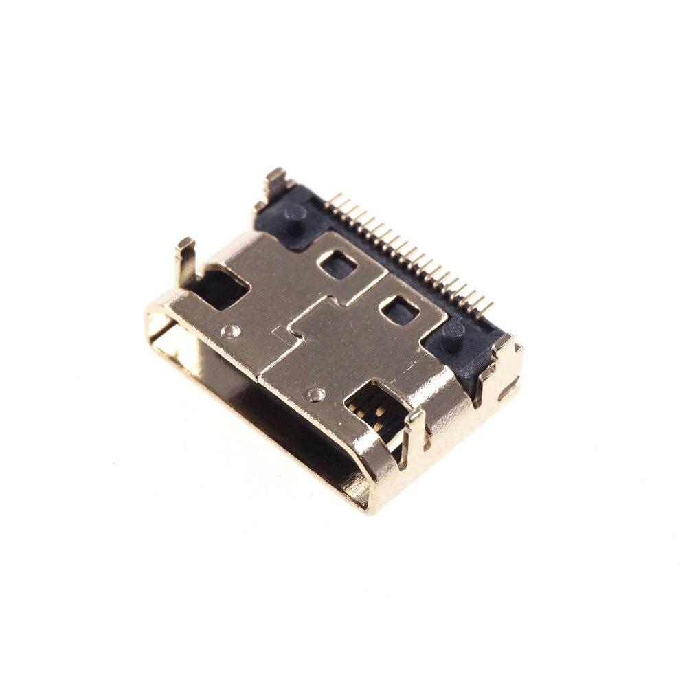 10 шт. Mini HDMI-совместимый разъем SMD 19 pin Оплавления пайке правый угол поверхности курган PCB по ограничению на использование опасных материалов ...