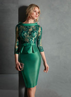2020 Mother Of The Bride Dresses Sheath Knee Length Lace Short Groom Mother Dresses For Weddings