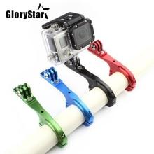 알루미늄 자전거 자전거 핸들 바 클램프 마운트 홀더 어댑터 표준 31 31.8mm Gopro Hero 2 3 3 + 4 5 6 7 xiaomi yi Camera