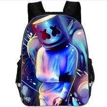 DJ Marshmallow Bag School Backpack for Teenagers  Marshmellow Children Bags Orthopedic Backpacks