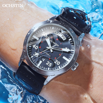 Modern Men's Watches 2020 Pilot Automatic Mechanical Wristwatch Military Luxury OCHSTIN Date Week Double Display Gifts For Male 6