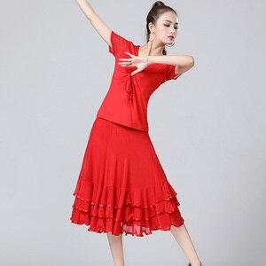 Image 5 - Verkauf Neue Dame Ballsaal Dance Röcke Weibliche Waltz Moderne Tanzen Röcke Tango Leistung Kostüm Nationalen Standard Dance Röcke